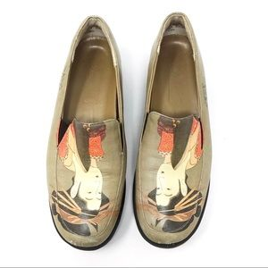 Icon Wearable Art Japanese Leather Slip-On Shoes